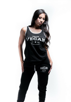 Load image into Gallery viewer, THROWBACK TANK - TRAIN VEGAN (Unisex)
