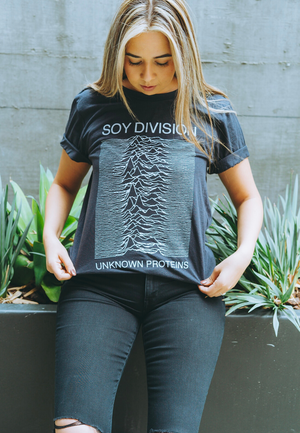 Load image into Gallery viewer, soy division vegan funny shirt