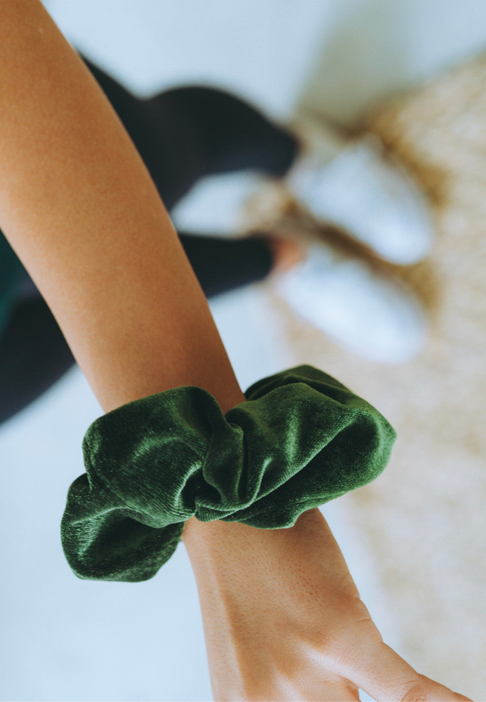 Kale Green Scrunchie