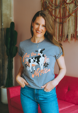 Free the Nipple Vegan Shirt Design By Vegetaryn