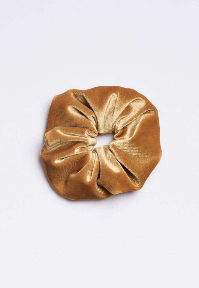 Golden Banana Scrunchie