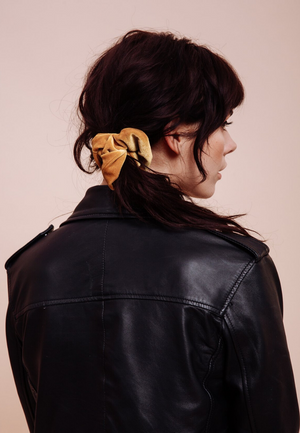 Load image into Gallery viewer, Banana Velvet Scrunchie