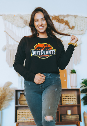 just plants vegan crop sweatshirt