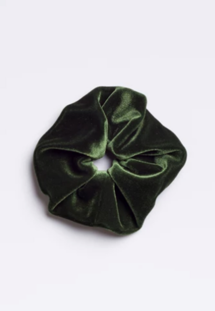 Big Kale Green Velvet SCRUNCHIE