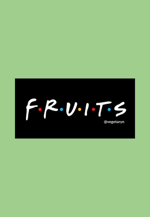 Load image into Gallery viewer, fruits vegan sticker