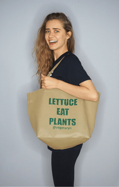 LETTUCE EAT PLANTS (Tote Bag)