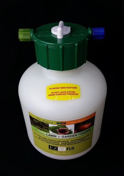 EZ-FLO Fertilizer Injectors in 3/4 Gallon and 2-Gallon Tank Size