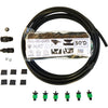 standard dual-line black all-in-one mat kit combines drip irrigation and plastic mulch.