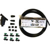 deluxe dual-line black all-in-one mat kit combines drip irrigation and plastic mulch.