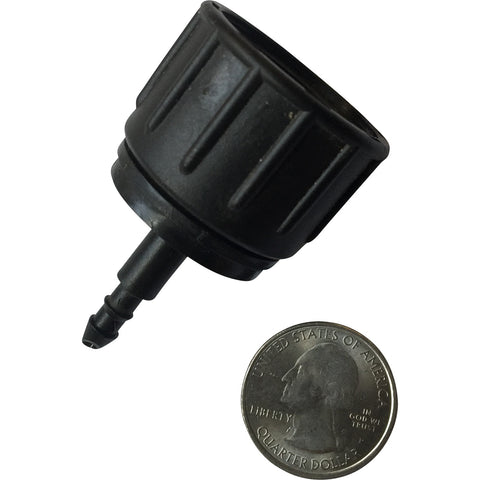 "Female Hose Thread (FHT) to 0.17""ID Tubing Adapter includes swivel"