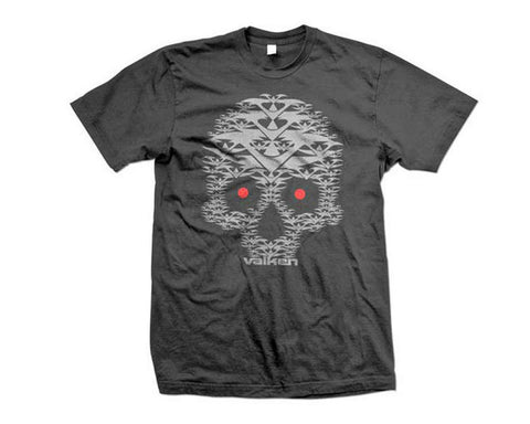 2012 Valken Paintball Skull V T-Shirt - Grey