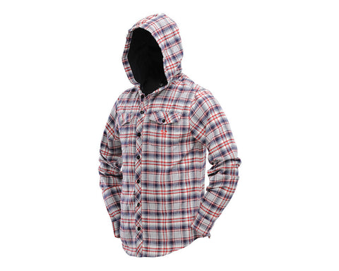 Dye 2013 Flannel Hooded Sweatshirt - Grey/Red
