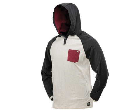 2014 Dye Coba Hooded T-Shirt - Off-White/Maroon