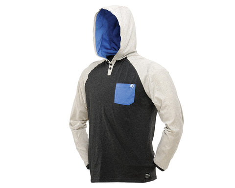 2014 Dye Coba Hooded T-Shirt - Heather Grey/Blue