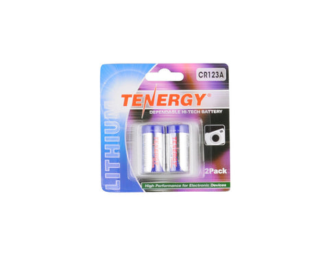 Tenergy Propel CR123A Lithium Battery With PTC Protected (2 pcs)
