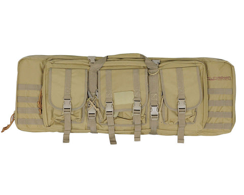"Valken 36"" Double Rifle Tactical Gun Case - Tan"