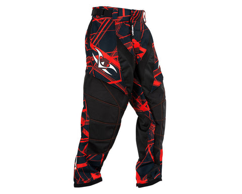 2014 Valken Crusade Paintball Pants - Hatch Red