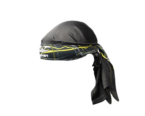 2012 Valken Crusade Paintball Headwrap - Static Yellow