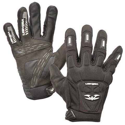 2012 Valken Impact Full Finger Paintball Gloves - Black
