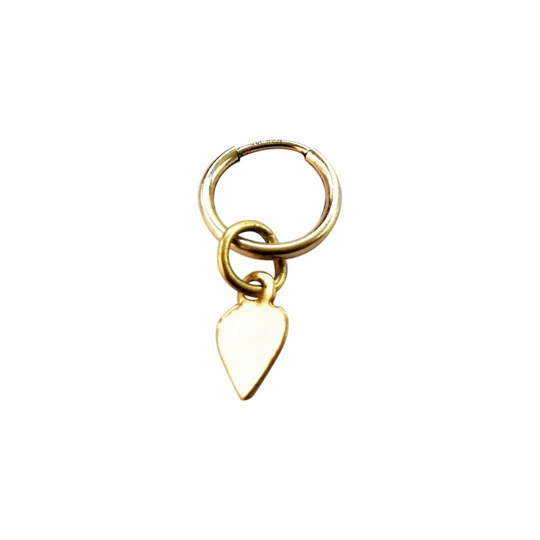 The Mini Heart Hoop Earring