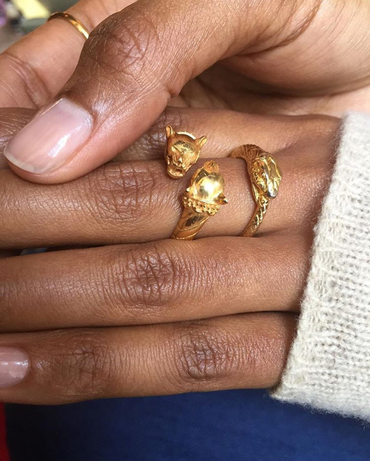 Double Headed Lioness Ring