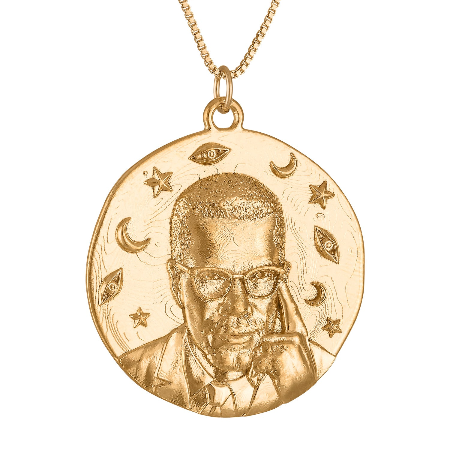 Malcolm X Large Medallion Necklace