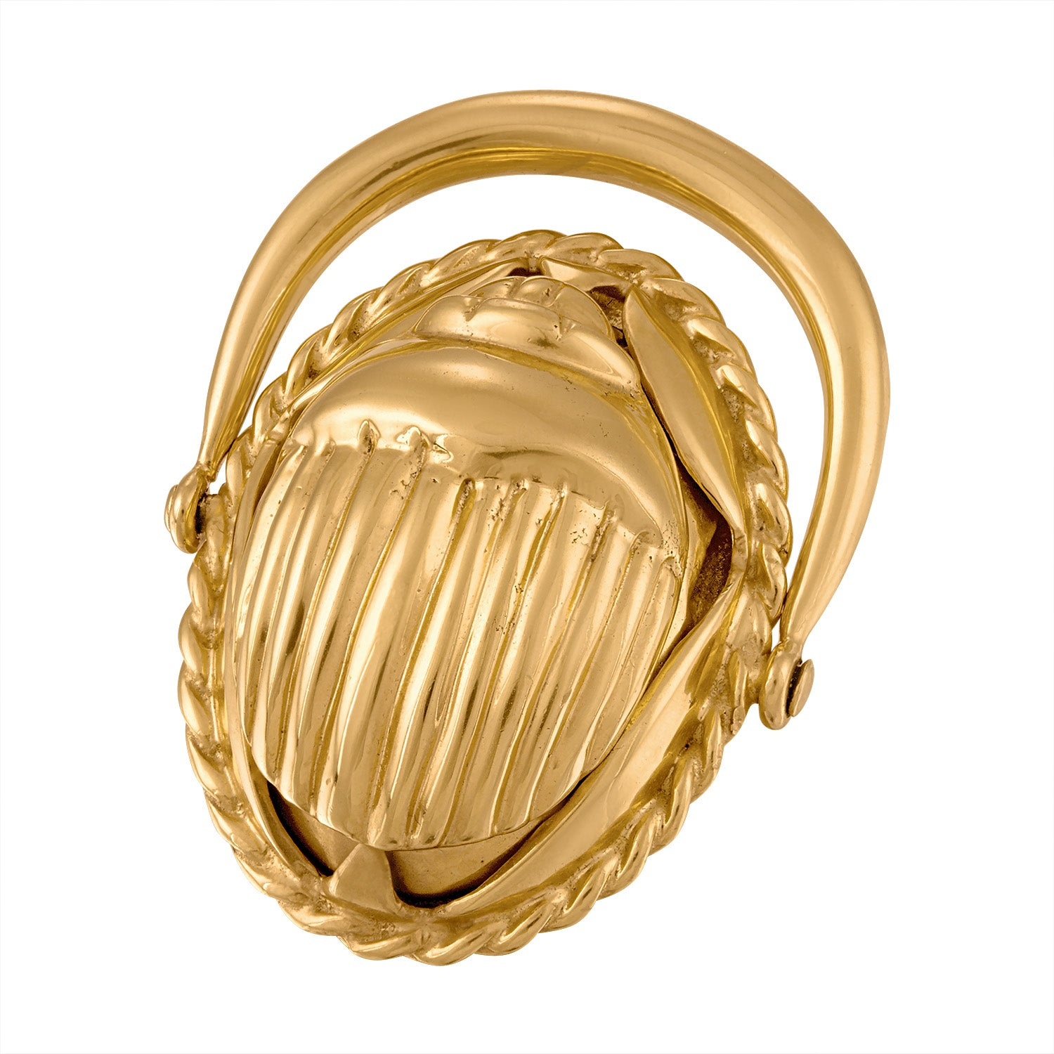 Large Scarab Swivel Ring