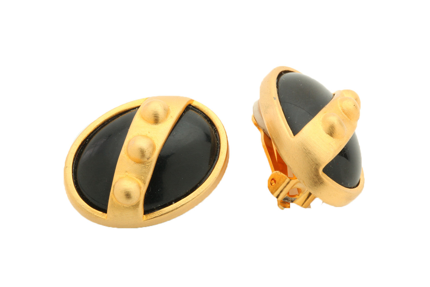 70's Caviar Bump Clip-on Earrings