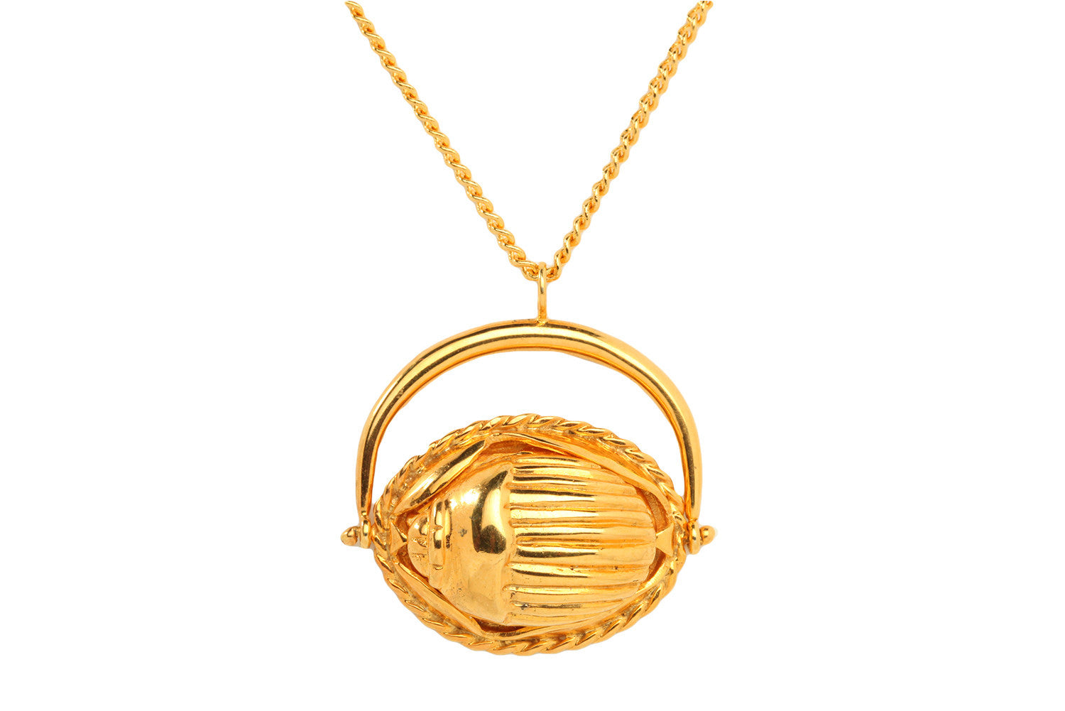 Large Scarab Swivel Pendant