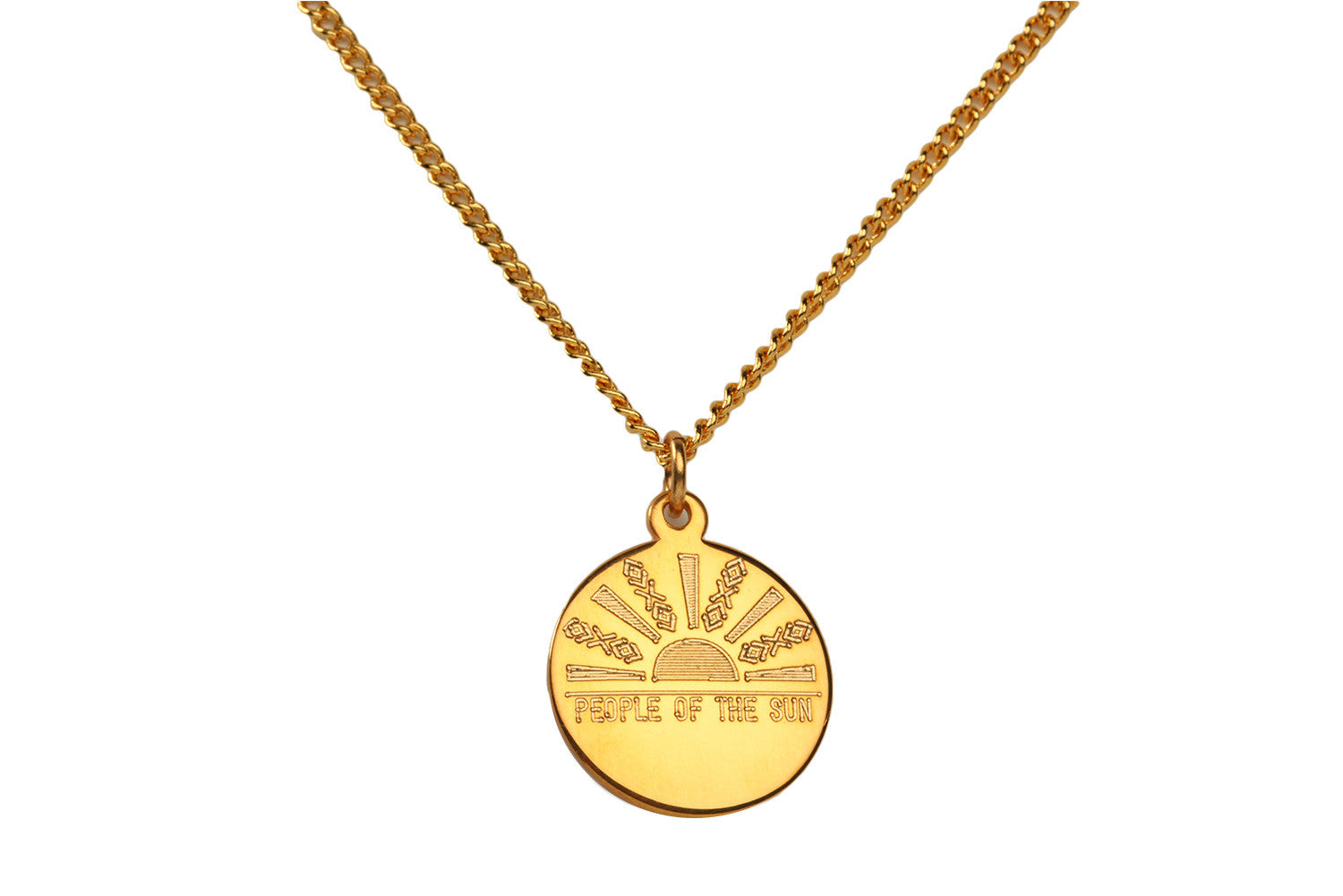 People of the Sun Charm Necklace
