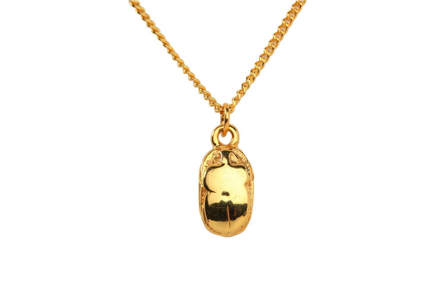 Solar Scarab Necklace