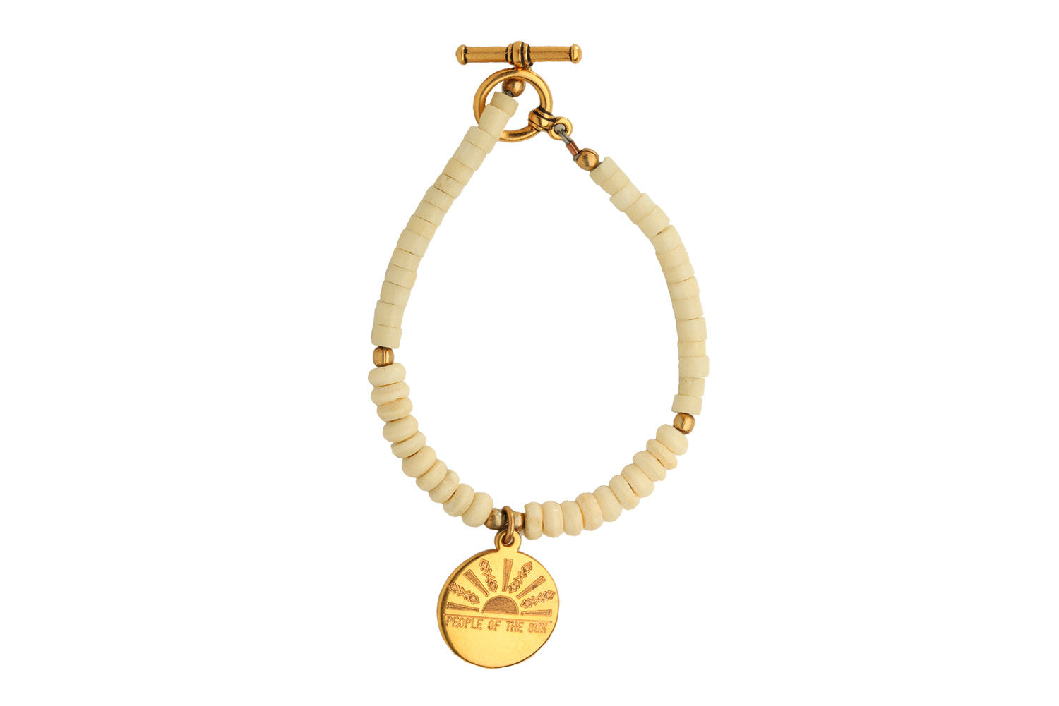 People of the Sun Charm Bone Bracelet