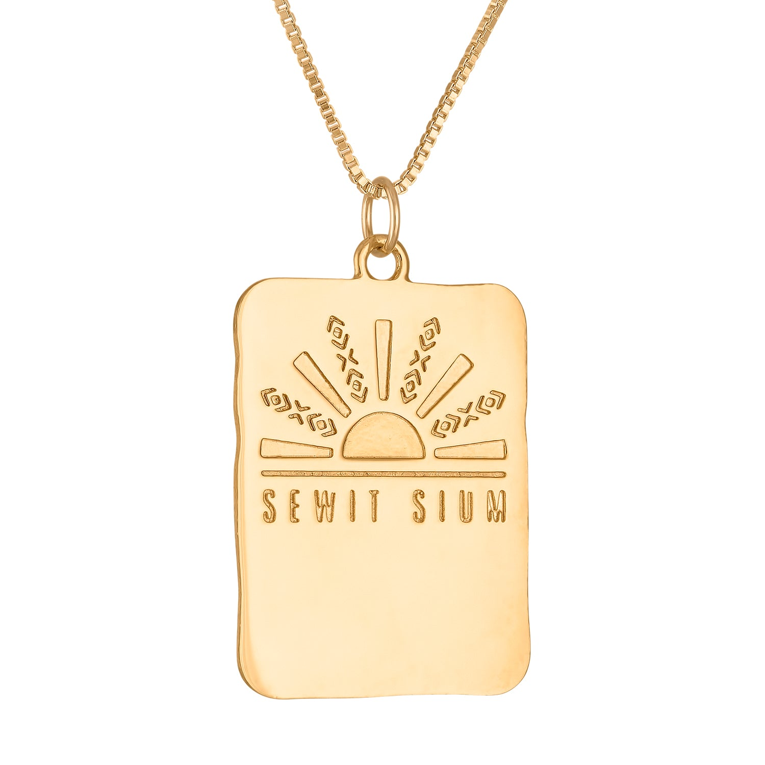Malcolm X Square Medallion Necklace