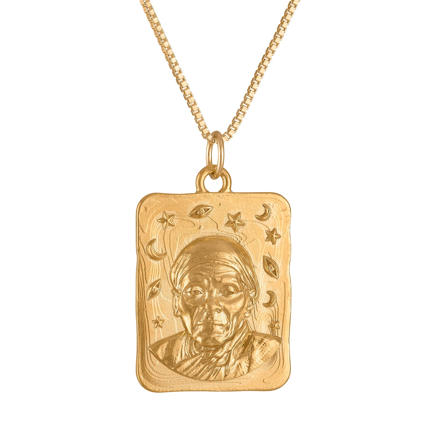 Harriet Tubman Square Medallion Necklace