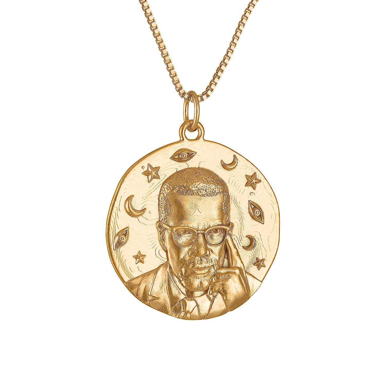 Malcolm X Small Round Medallion