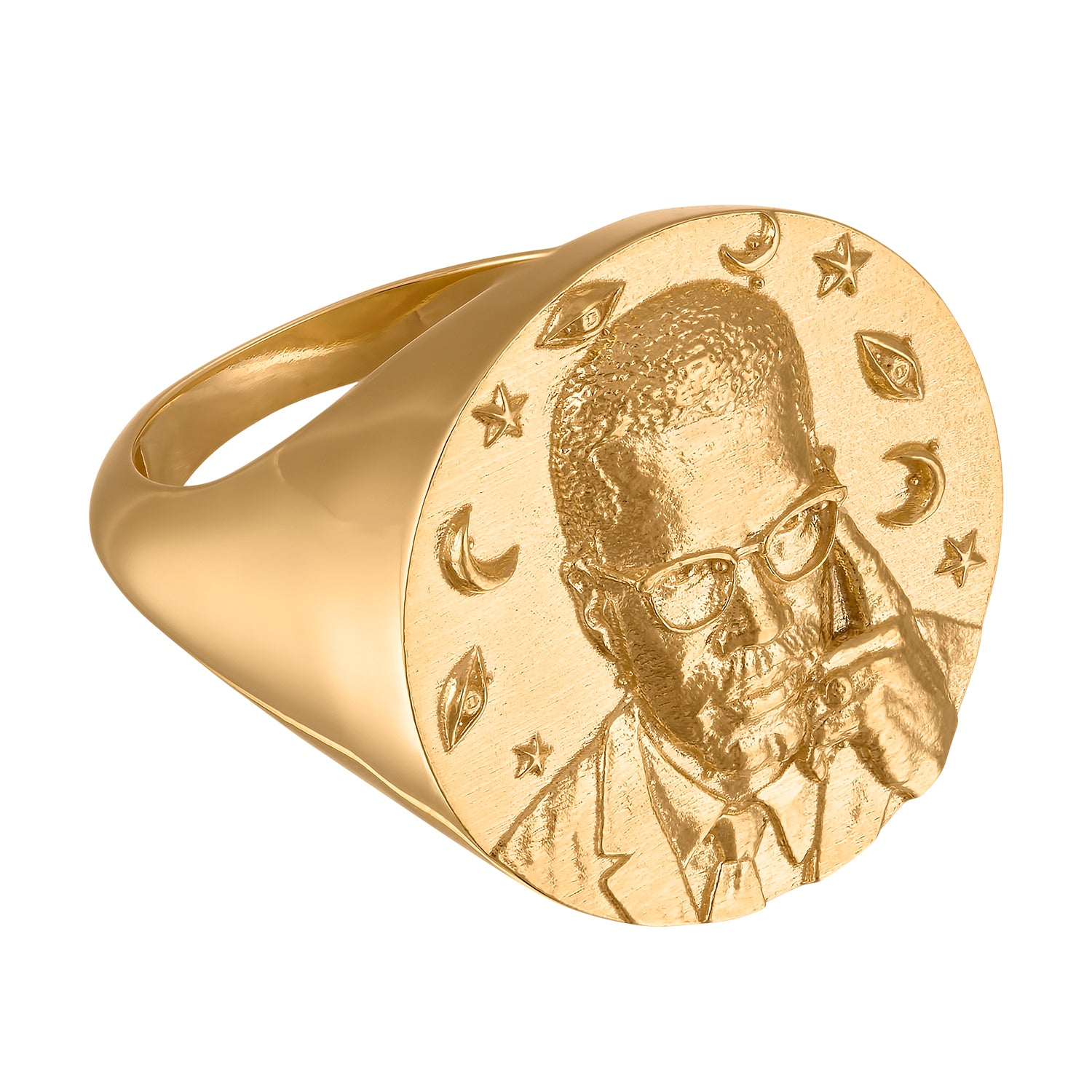 Malcolm X Large Signet Ring