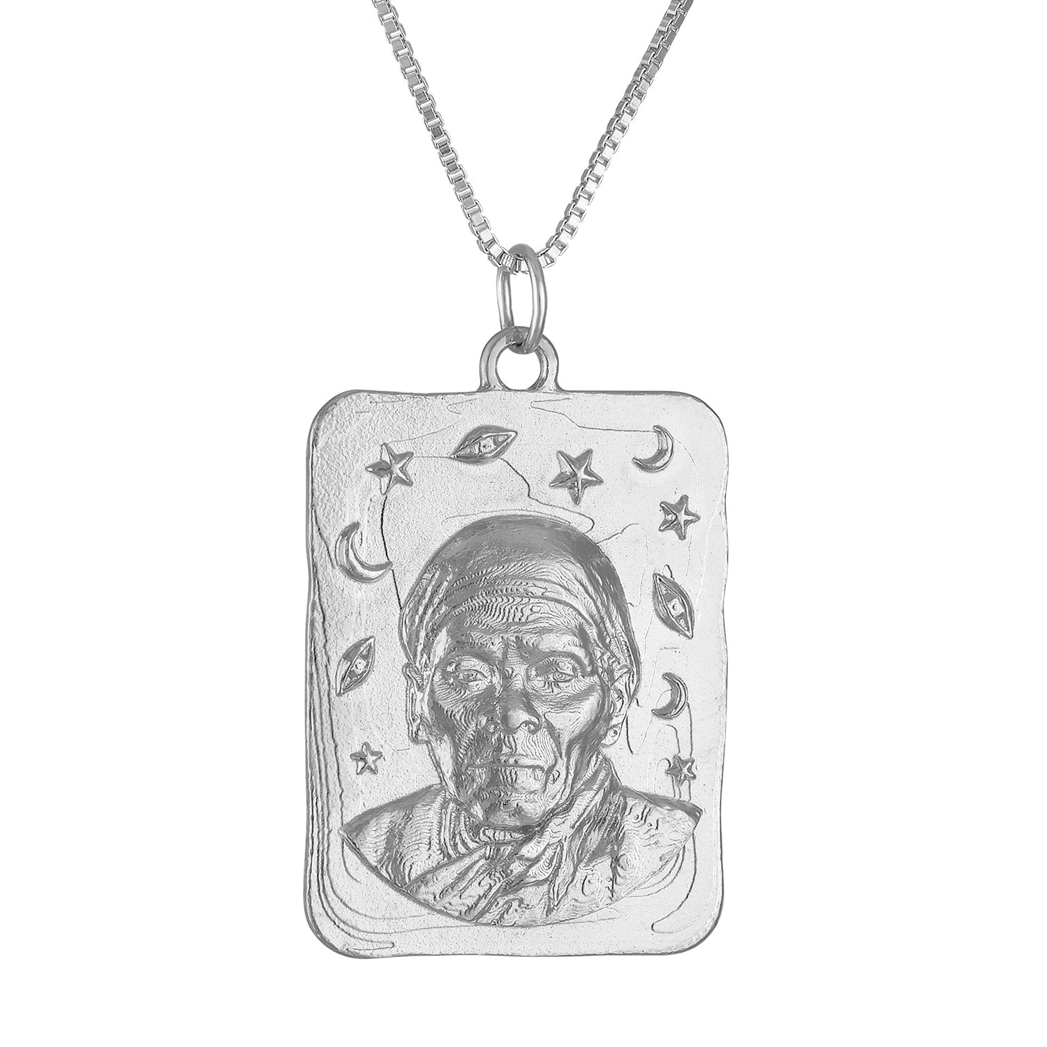 Harriet Tubman Large Square Medallion Necklace