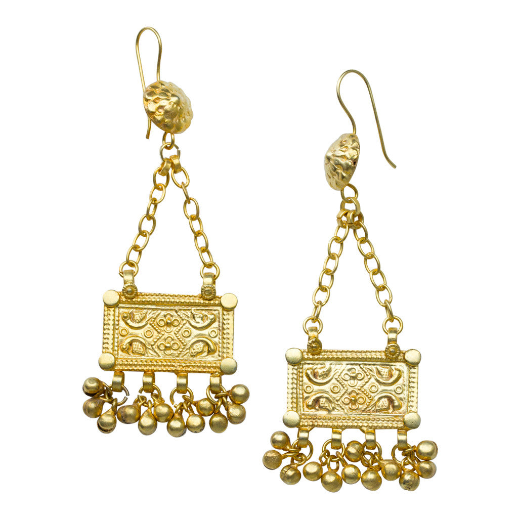 Hagosa Gold Earrings