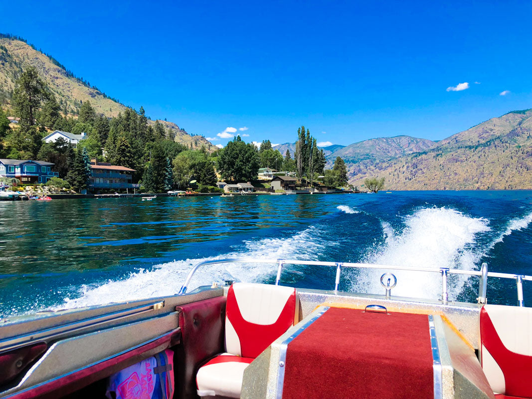 Boating in Lake Chelan, Washington