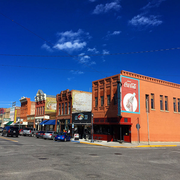 Main Street in Livingston, Montana on the road to Yellowstone