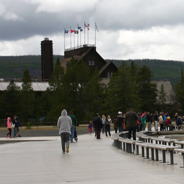 Old Faithful is the main attraction at Yellowstone, you'll find a hotel, restaurant and even a clock which predicts the next time Old Faithful will blow.