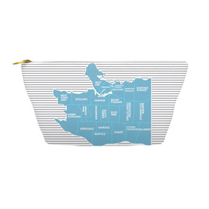 Vancouver BC Neighborhood Map - Makeup Bag - Designhype - City Inspired Accessories