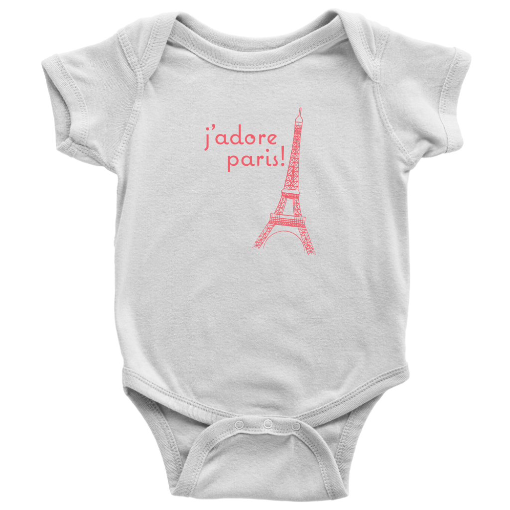 J'adore Paris! Baby Onesie - Designhype - City Inspired Accessories
