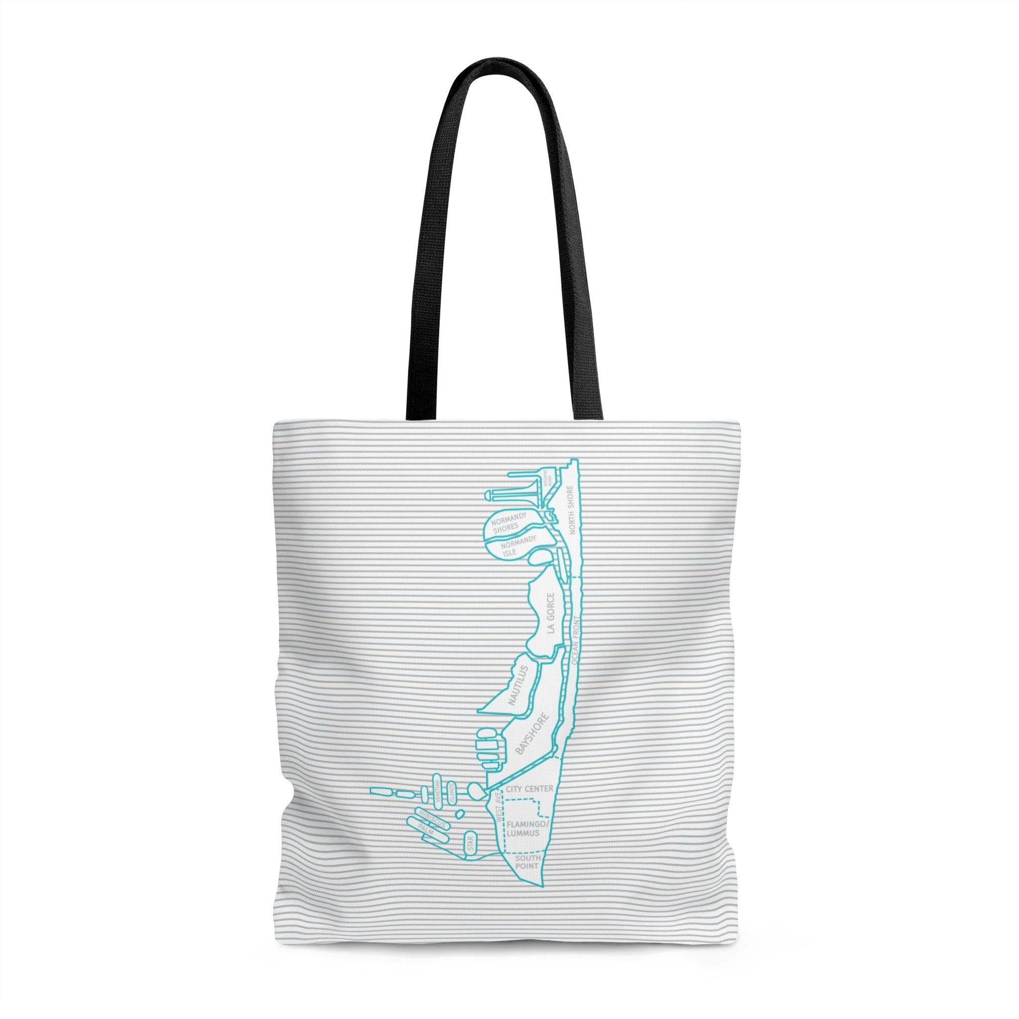 Miami Beach Neighborhood Map Tote Bags - Designhype - City Inspired Accessories