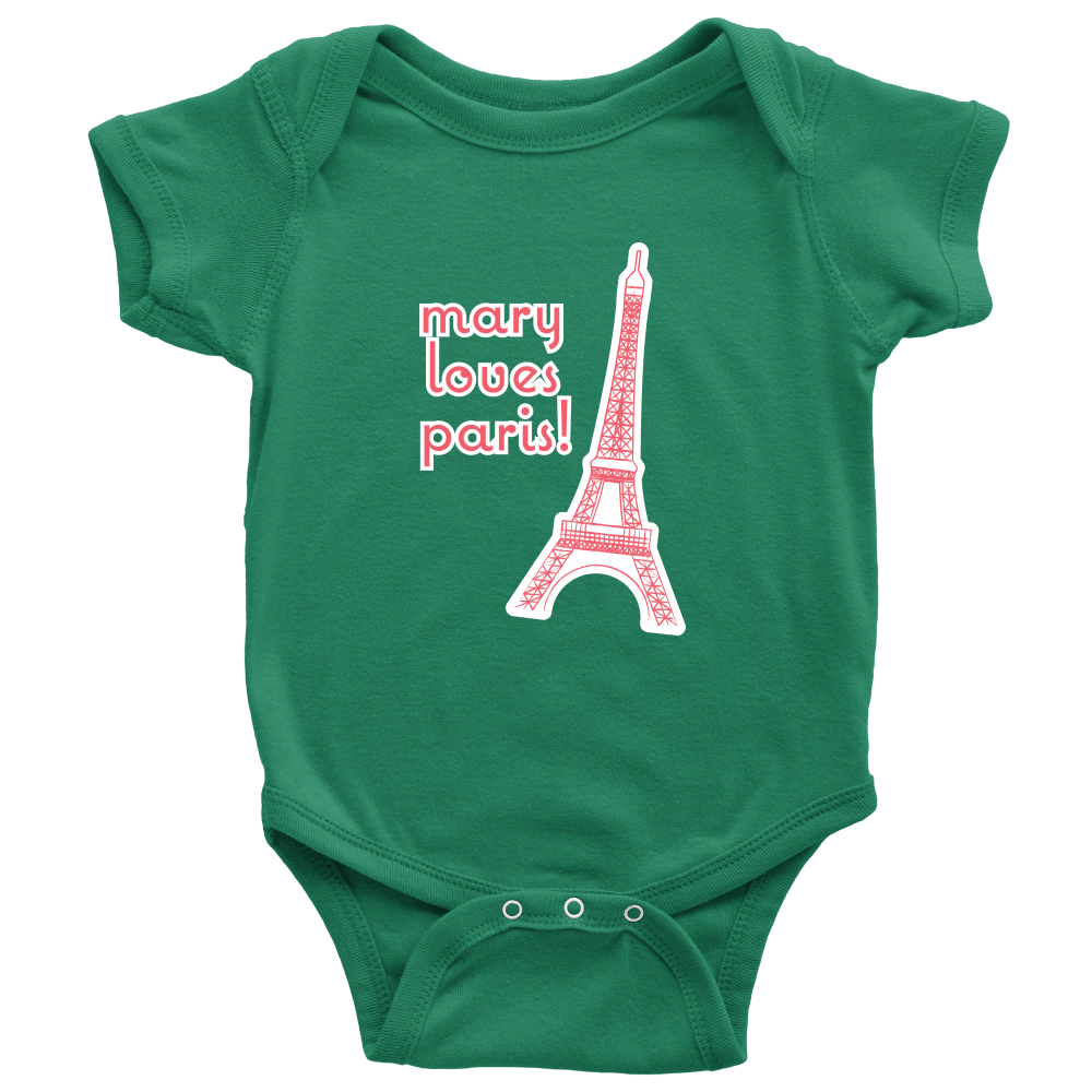Personalize your Eiffel Tower Onesie - Designhype - City Inspired Accessories
