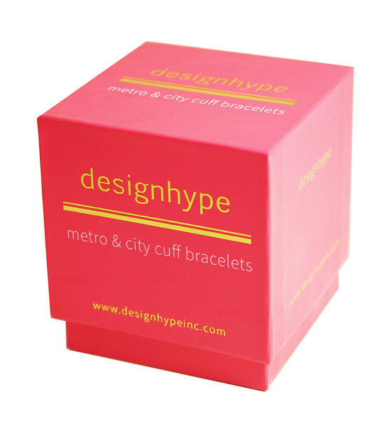 Designhype's subway map cuff bracelet packaging for our gold cuffs