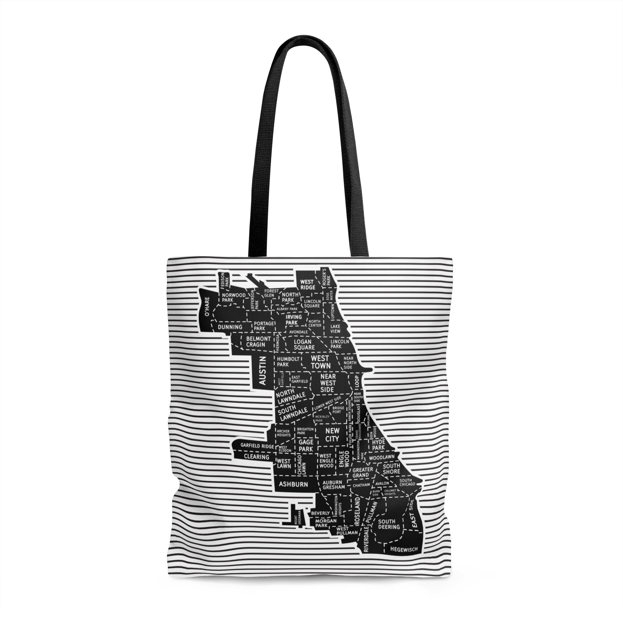 Chicago Neighborhood Map Tote - Designhype - City Inspired Accessories