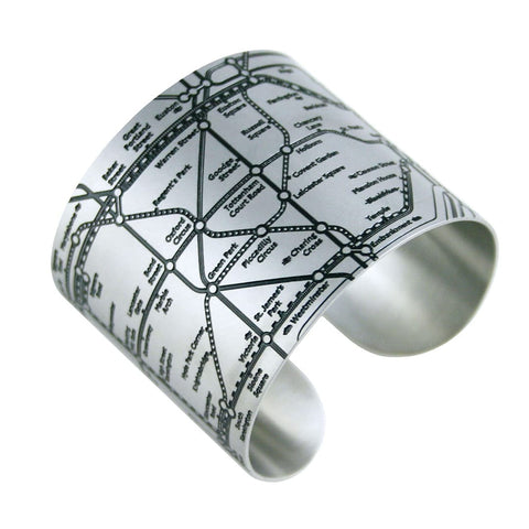 London Tube Cuff Map Bracelets - All Styles - Designhype - City Inspired Accessories