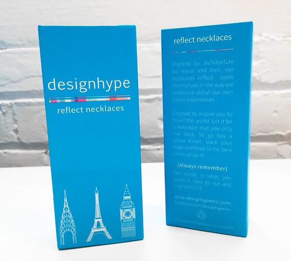 Designhype's engraved Eiffel Tower Necklace gift box for women who have Paris wanderlust and love all things Parisian