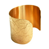 Designhype's Los Angeles City Map Cuff bracelet back in gold